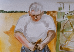 Art - Dad in Field