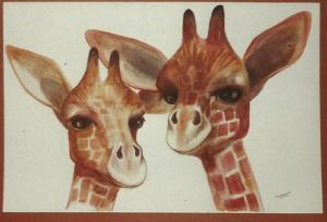 Art -Two Giraffes -'83