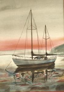 Art -Boat at Sunset -'83