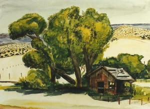Art -Heiskell Ranch Cabin at Spring '95