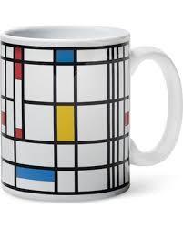 Art - History - Mondrian - Black line Commercial art mug