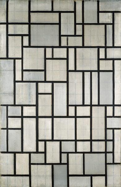 Art - History - Mondrian - Black line white squares