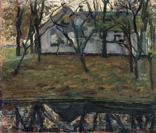 Art - History - Mondrian early - house and trees
