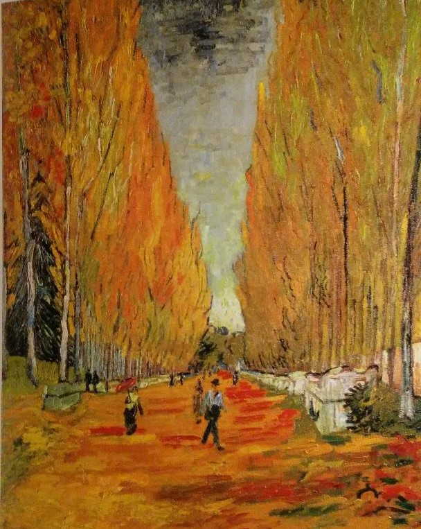 Art - History - The Alyscamp Avenue of Aries - Vincent Van Gogh -1886